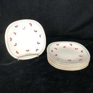 5 Haeae Mori Butterfly Plates Square Dessert Yamak